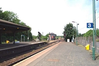 Stourbridge Junction station looking towards Birmingham