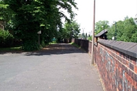 Stourbridge Town station site from driveway