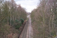 Sutton Park station from Anchorage Rd bridge towards Aldridge