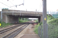 Tame Bridge Parkway station looking towards Walsall