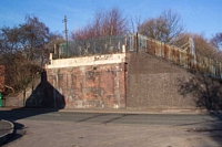 Tipton Five Ways station bridge remains, Sedgley Road West