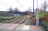 West Bromwich station site looking towards Wolverhampton
