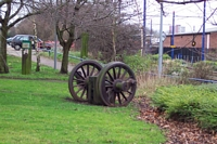 West Bromwich station site old railway wheel
