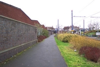 West Bromwich station site old station walling