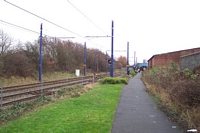 West Bromwich station site looking towards Brimingham