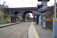 Lodge Road, West Bromwich Town Hall Midland Metro stop Birmingham platform