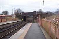 Whitlock's End station looking towards Birmingham