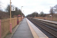 Whitlock's End station looking towards Stratford-upon-Avon