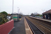 Widney Manor station looking towards Birmingham
