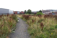 Withymoor goods station site looking towards Northfield Road