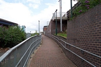 Witton station entrance pathway