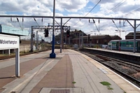 Wolverhampton station looking towards Birmingham