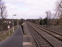 Wootton Wawen station looking towards Birmingham