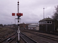 Worcester Shrub Hill station signal box and shed
