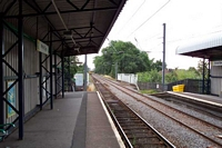 Wylde Green station looking towards Chester Road