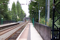 Wylde Green station looking towards Sutton Coldfield