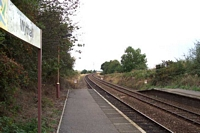 Wythall station looking towards Birmingham
