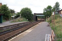 Wythall station looking towards Earlswood