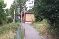 Wythall station looking up entrance pathway